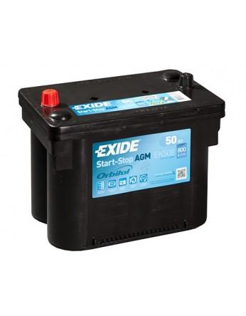Μπαταρία αυτοκινήτου Exide AGM Start & Stop EK508 - 12V 50 Ah - 800CCA A(EN) Εκκίνησης