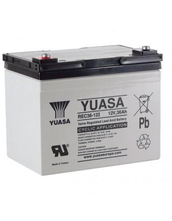 Μπαταρία YUASA REC36-12 VRLA - AGM τεχνολογίας - 12V 36Ah