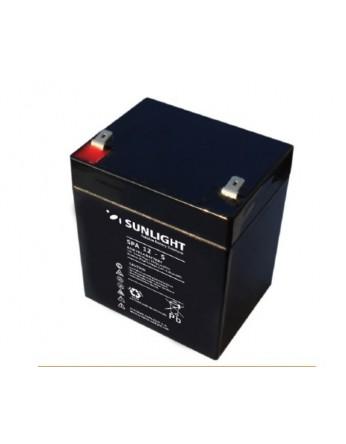 Μπαταρία Sunlight SPA12-5 VRLA - AGM τεχνολογίας - 12V 5Ah (C20)
