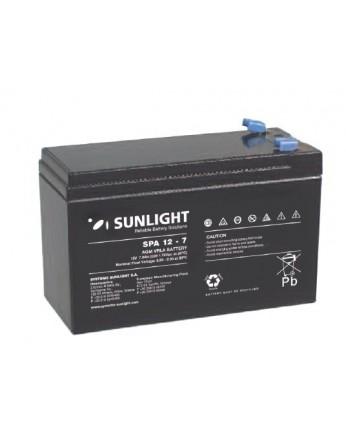 Μπαταρία Sunlight SPA12-7 (F1) VRLA - AGM τεχνολογίας - 12V 7Ah (C20)
