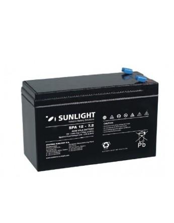 Μπαταρία Sunlight SPA12-7.2 (F1) VRLA - AGM τεχνολογίας - 12V 7Ah (C20)