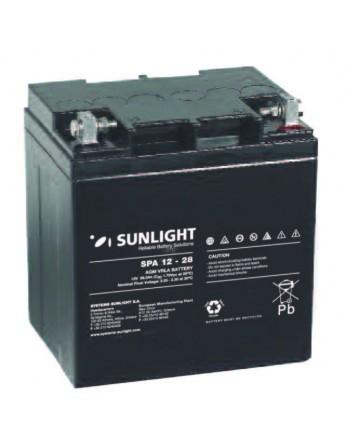 Μπαταρία Sunlight SPA12-28 VRLA - AGM τεχνολογίας - 12V 28Ah (C20)