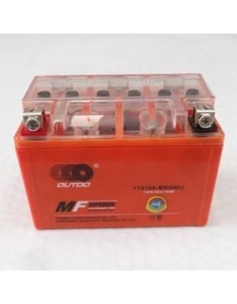 Μπαταρία μοτοσυκλετών OUTDO YT12A-BS IGEL - 12V 10 (10HR)Ah - 175 CCA(EN) εκκίνησης