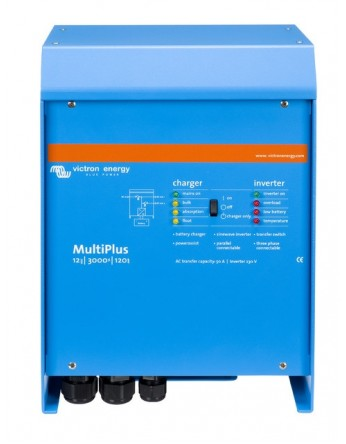 Μετατροπέας - inverter με φορτιστή DC-AC καθαρού ημιτόνου Victron MultiPlus 12/3000/120-16