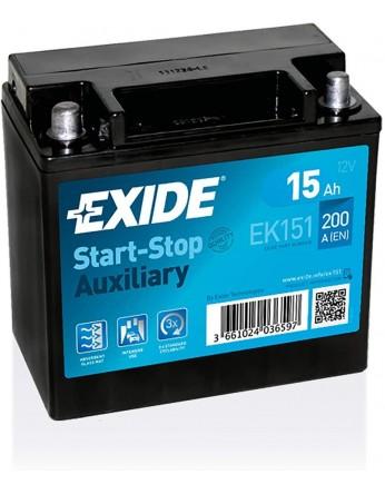 Μπαταρία μοτοσυκλετών EXIDE EK 151 12V 15AH - 200CCA
