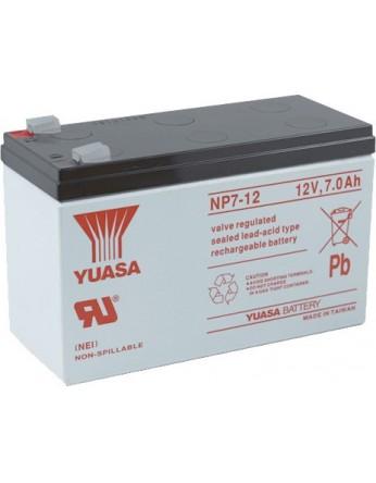 Μπαταρία YUASA NP7-12D VRLA - AGM τεχνολογίας - 12V 7Ah  Made in Taiwan